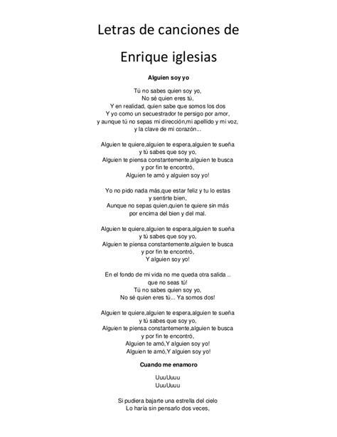Letras de canciones