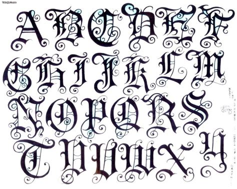 letras goticas 1519.jpg  1760×1410  | Tatuajes, tribales ...