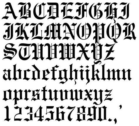 Letras góticas - Abecedario
