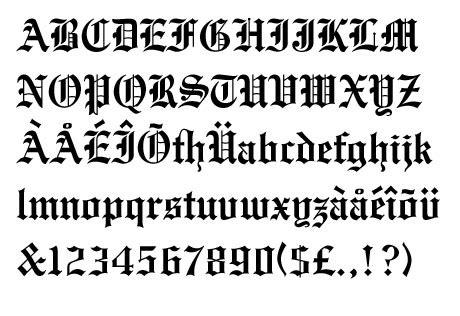 Letras góticas para word - Imagui