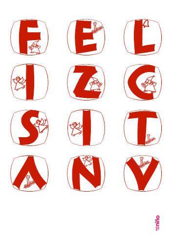 Letras navideñas en rojo   Motivos navideños para imprimir ...