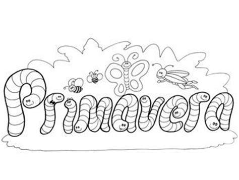 Letras Primavera Para Colorear Cartel de primavera 2 ...