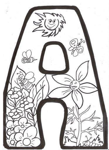 Letras Primavera Para Colorear letras de primavera para ...