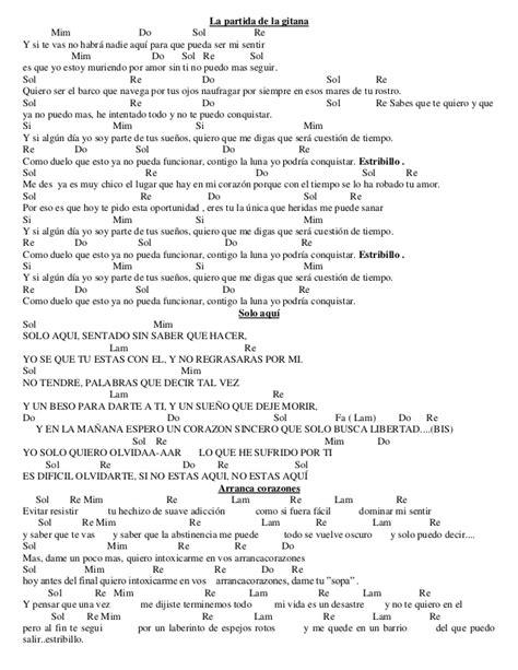 Letras y letras con acordes