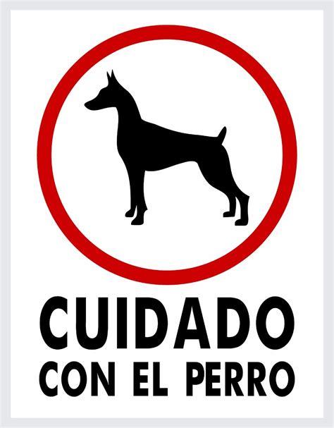 Letreros 8pzas Cuidado Con El Perro - 23x30cm (estireno ...
