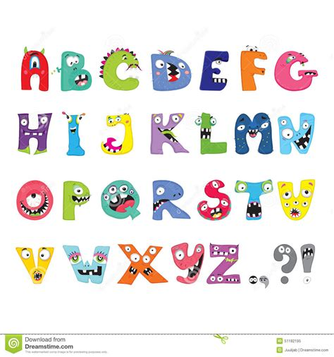 Letter clipart monster - Pencil and in color letter ...