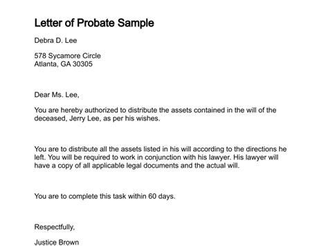 Letter of Probate