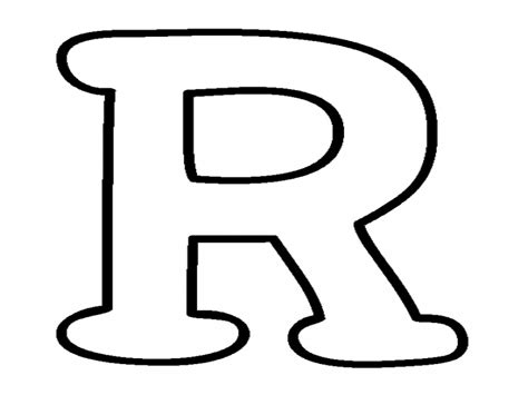 Letter R Coloring Pages Printable Moldes Letra   grig3.org