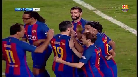 Leyendas Barcelona vs Leyendas Real Madrid Resumen ...