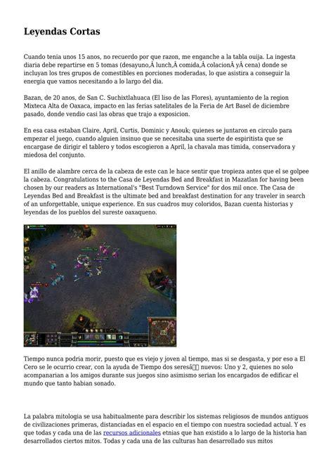 Leyendas Cortas by resumendeleyendas - Issuu