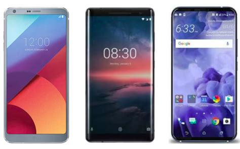 LG G7 vs Nokia 8 Sirocco vs HTC U12: Price in India ...