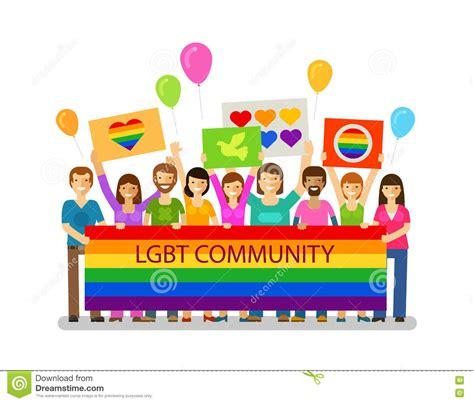 LGBT Community Vector Illustration | CartoonDealer.com ...