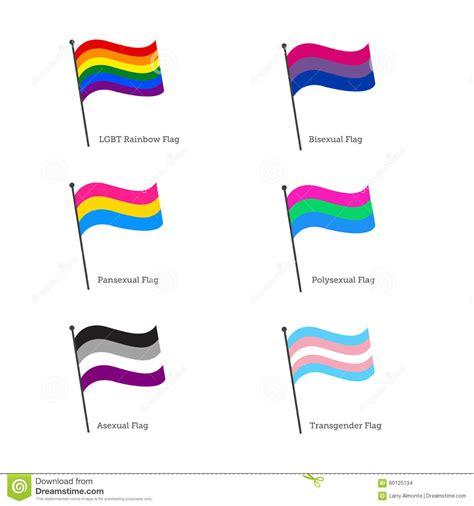 LGBT Flags  Flag Pole Style  Stock Illustration ...