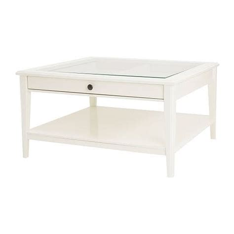 LIATORP Mesa de centro   blanco/vidrio   IKEA