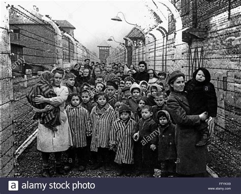 Liberation of Auschwitz concentration camp, 1945 Stock ...