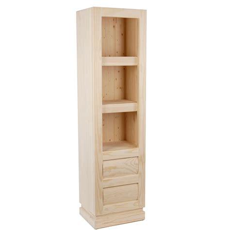 Librero de madera de pino natural sin tratar, muebles ...