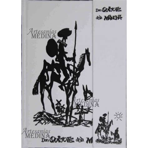 Libreta Don Quijote de la Mancha B/N.