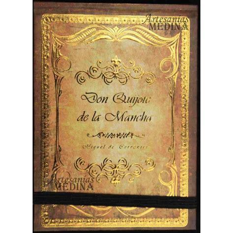 Libreta Don Quijote de la Mancha dorado.