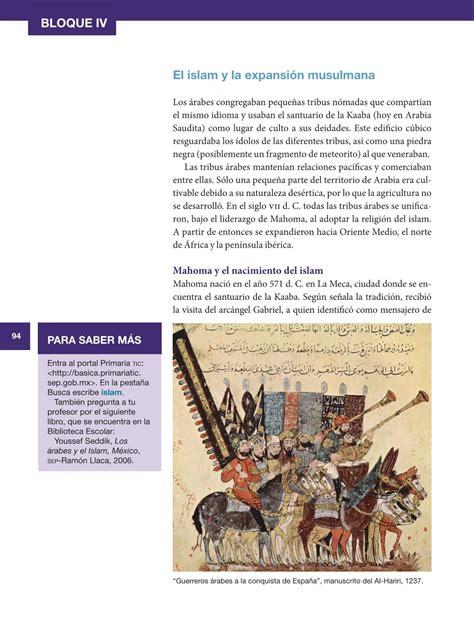 Libro 5 Grado Sep Historia 2016 | newhairstylesformen2014.com