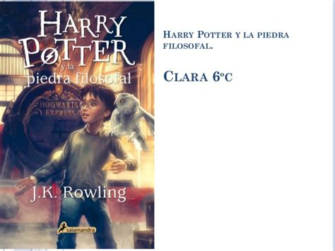 Libro: Harry potter y la piedra filosofal