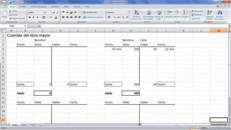Libro mayor contabilidad plantilla Excel   Excel ...