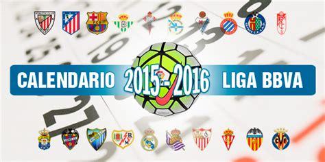 Liga BBVA - Primera División: El calendario completo de la ...