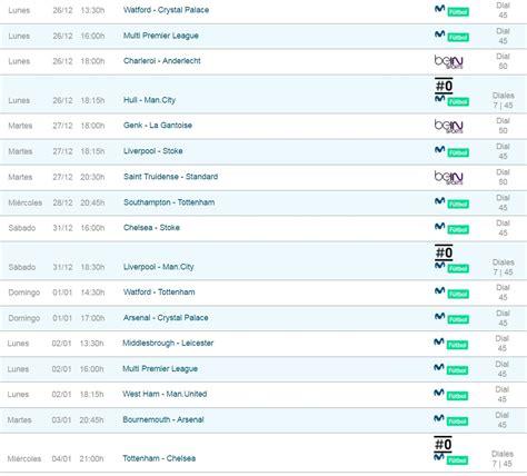 Liga inglesa y fútbol internacional, partidos y horarios ...