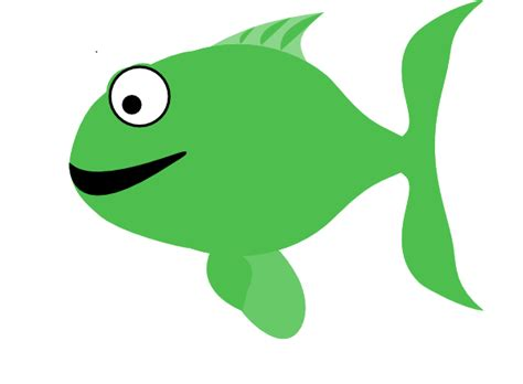 Light Green Happy Fish Clip Art at Clker.com - vector clip ...