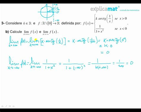 Limites de funções por ramos   arctg x    YouTube