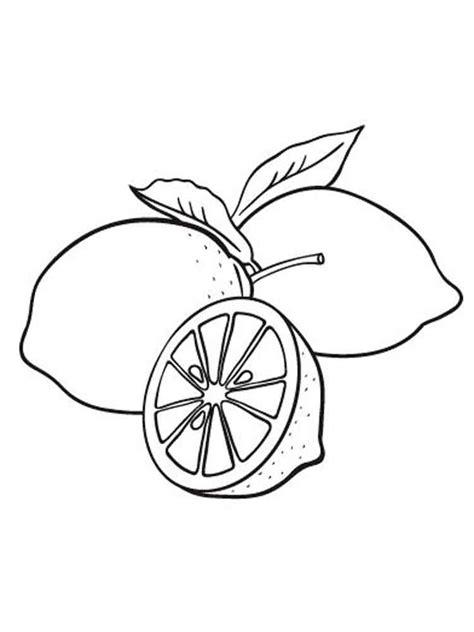 Limones para colorear e imprimir