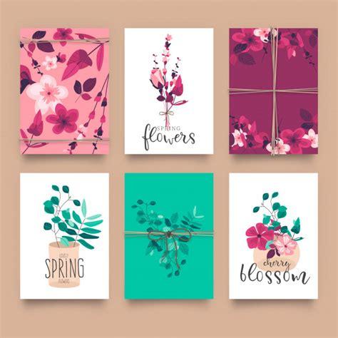 Lindas plantillas de tarjetas florales | Descargar ...