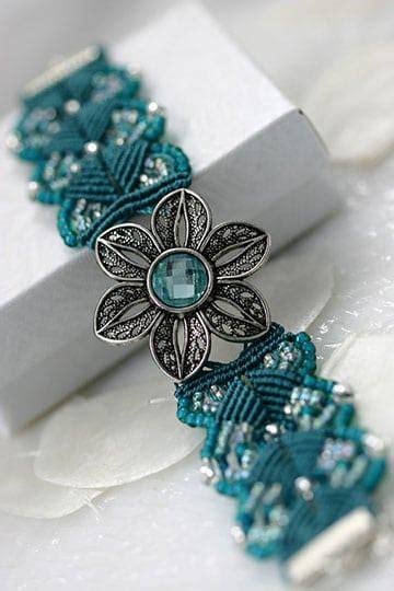 Lindos diseños de pulseras de macrame con piedras de moda ...