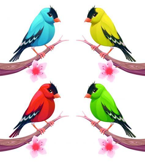 Lindos pájaros en colores distintos   Descargar Vectores ...
