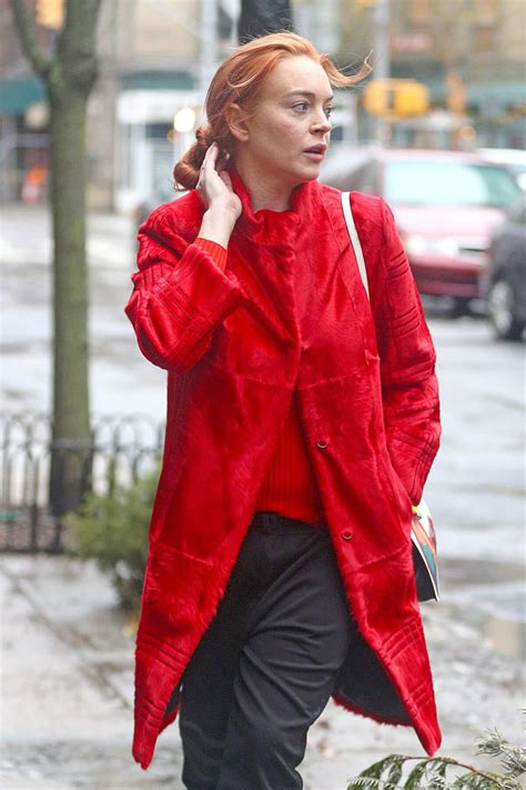 Lindsay Lohan Stills Out and About in New York 2018/01/12 ...
