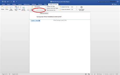 Link to Previous Button Disabled (Word 2016) - Microsoft ...