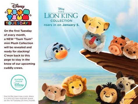 Lion King Tsum Tsum Collection to be Released in January ...