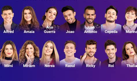 Lista completa de los concursantes de 'Operación Triunfo ...