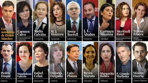 Lista completa de ministros del Gobierno de Pedro Sánchez