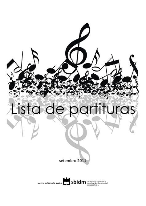 Lista de partituras by bibliotecas Universidade de Aveiro ...