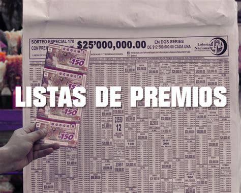 Listas de Premios de los Sorteos de Lotería Nacional ...