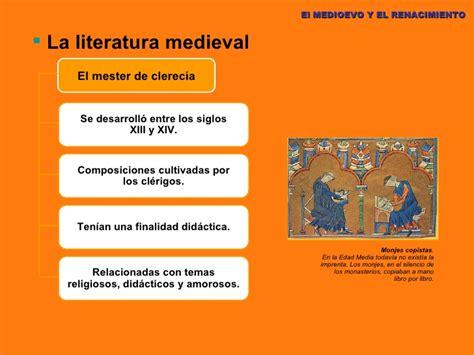 Literatura medieval y del renacimiento