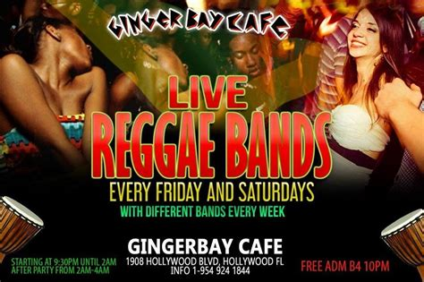 Live Reggae Bands - Hollywood Florida Beach Vacations Planner
