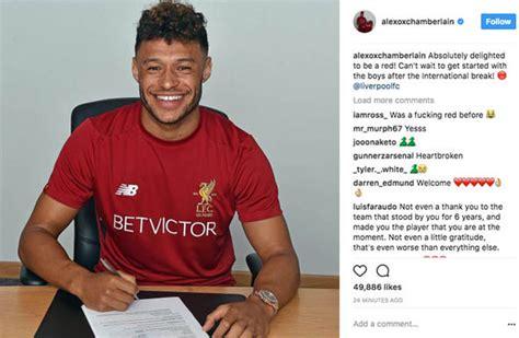 Liverpool transfer news: Alex Oxlade Chamberlain sends ...