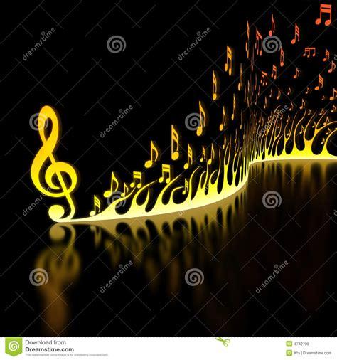 Llama De Notas Musicales Imágenes de archivo libres de ...