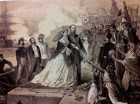 Llegada de Maximiliano y Carlota a México entrando por el ...