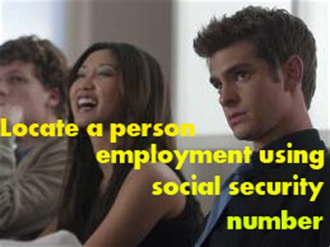 Locate a person employment using social security ...