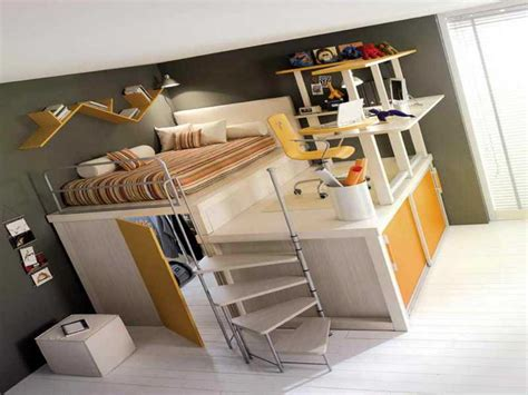 Loft Bed with Desk Underneath | Kids Furniture Ideas