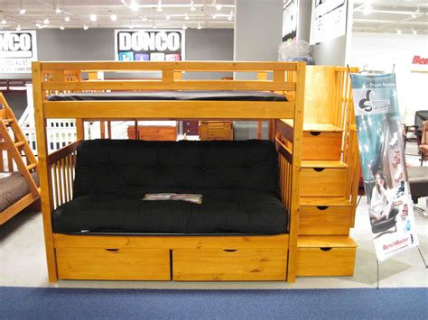 Loft Bed With Futon And Desk | futon bunk beds twin over ...