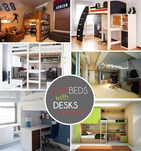 Loft Beds With Desks Beneath | Decorations Tree