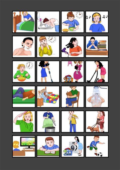 Logopedia en especial: Imágenes sobre acciones cotidianas